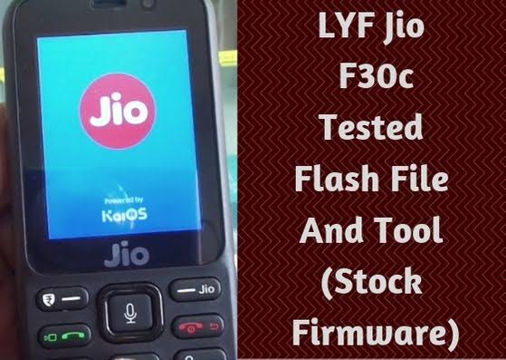 LYF Jio F30c Tested Flash File