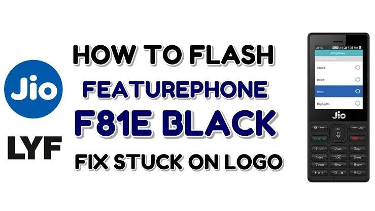 Jiophone F81E Black