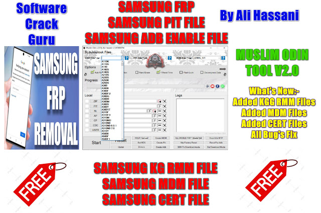 Muslim ODIN Tool V2.0   FRP File   ADB Enable File   PIT File   Free Download
