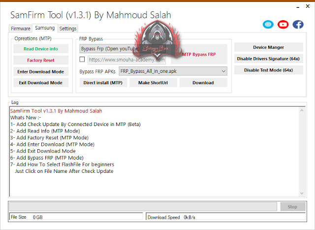 SamFirm Tool v1.3.1   Combination   Firmware   FRP Bypass   Drivers [All-IN-One Tool]