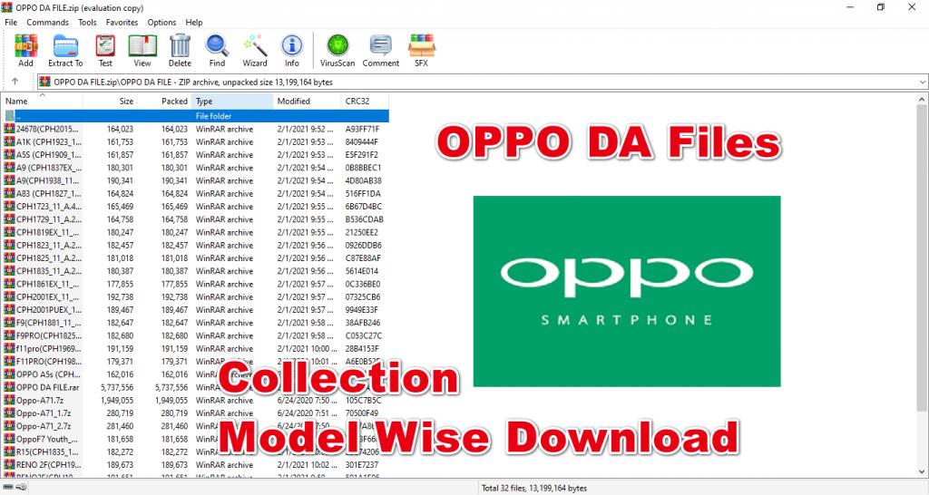 OPPO DA Files