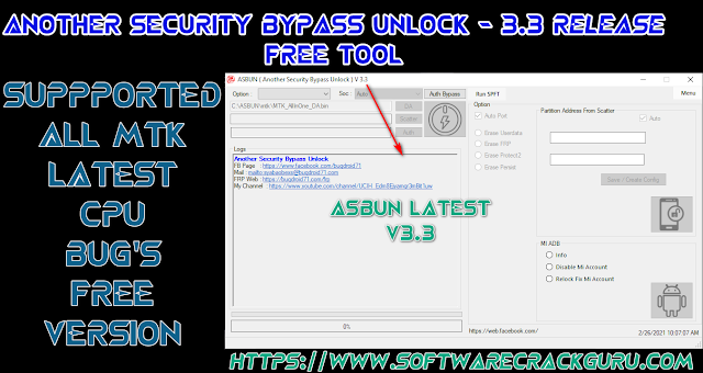 ASBUN – (Another Security Bypass Unlock) V 3.3 Free Download   Fix the Previous Version Issue