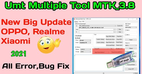 UMT Ultimate Multi Tool-MTK v3.8   New Big Update 2021   OPPO Realme Meta Reset Error Fix