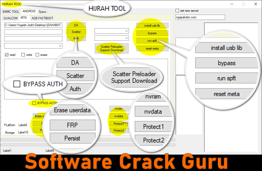 Hijrah Tool 2021 For MTK Smartphone Auth Bypass Flash MTK