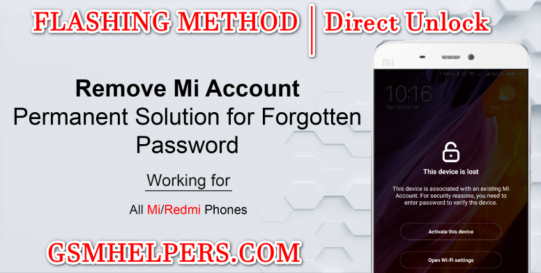 Xiaomi - Qualcomm Mi Account and FRP Solution With File