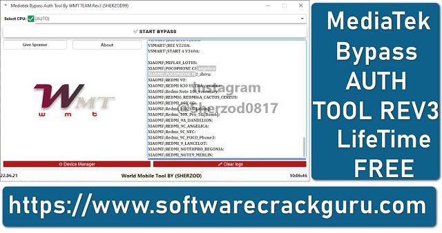 MediaTek Bypass Auth Tool By WMT Team REV3 Free Download