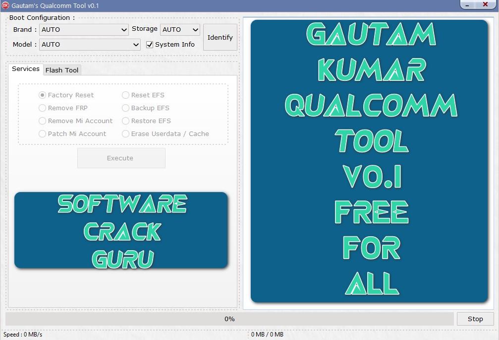 Gautam's Qualcomm tool v0.1 Beta Free Download (Portable)